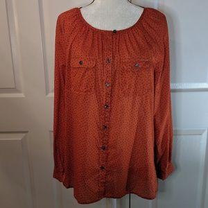 Ann Taylor Lift flowy blouse size Medium
